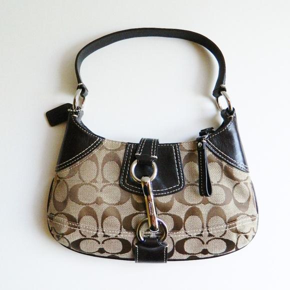 Coach Handbags - Coach Brown Leather Hobo Purse